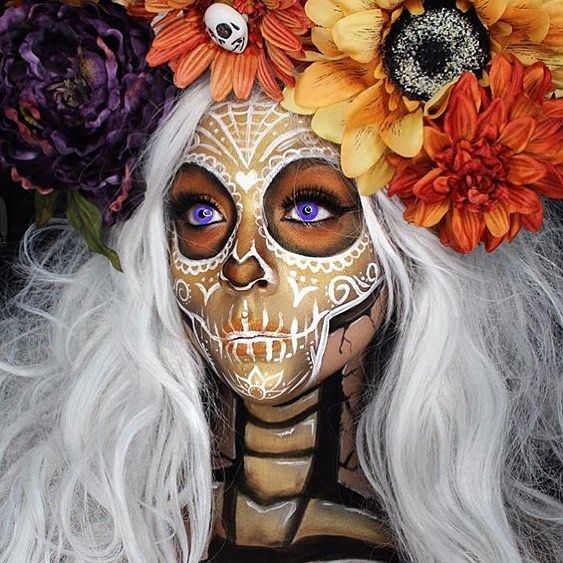 Sugar Skull MakeUp by Instagramer eva.lamorte