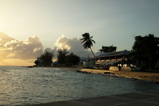 Sunset Along the Boardwalk in Christ Church, Barbados