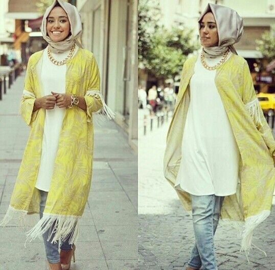 Love this outfit masha Allah :) Yellow and light washed jeans yay--Hulya Aslan