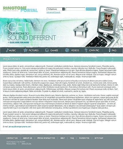 Media Content Website Templates by Lovely