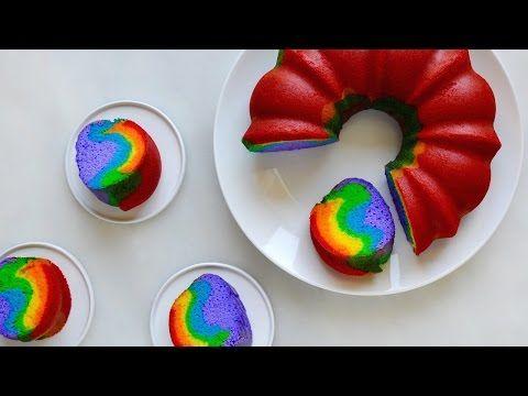 Just a Taste   Video: Easy Rainbow Cake