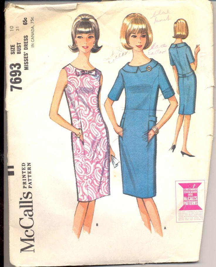 Modello abito donne di vintage 1960, 7693 cartamodello di McCall, taglia 10 di AtomicRegeneration su Etsy https://www.etsy.com/it/listing/215985247/modello-abito-donne-di-vintage-1960-7693