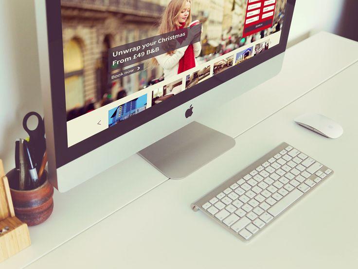 Preview of the new look jurysinns.com Hotel website on large desktop by hidden depth