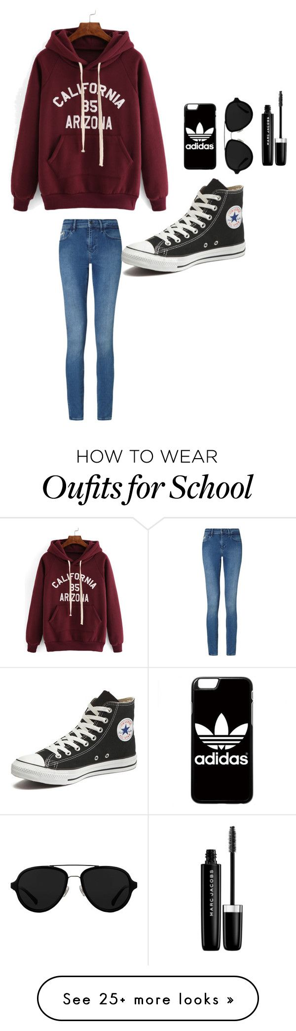 """""""Blah blah blah school is stressful"""" by clairebear89 on Polyvore featuring Calvin Klein, Converse, adidas, 3.1 Phillip Lim and Marc Jacobs"""