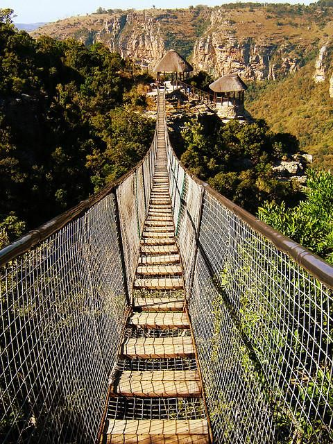 Walk the Swing Bridge at Oribi Gorge, South Africa. Looks terrifying!