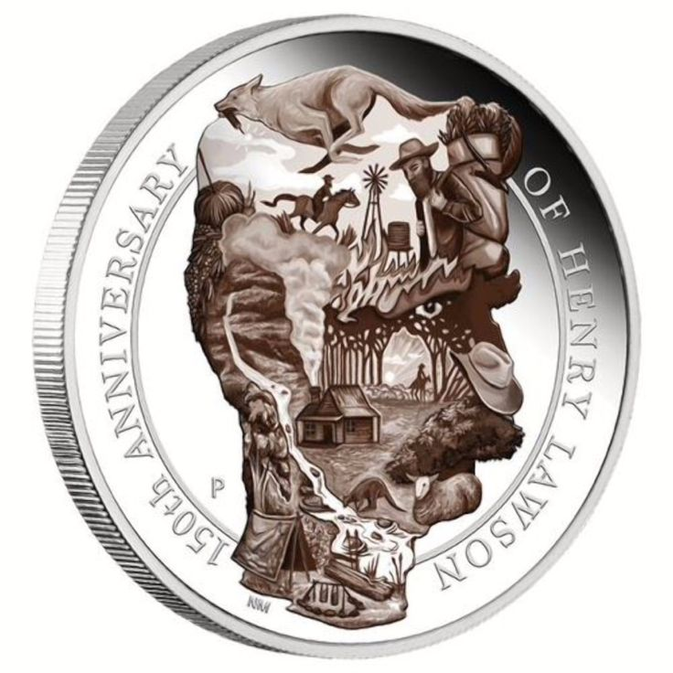 Australia Remembers Poet Henry Lawson with 5oz Silver Coin
