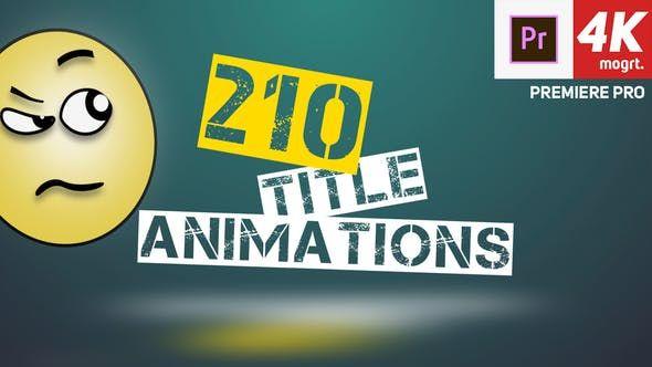 210 Title Animation Premiere Pro | Logo reveal, Web design