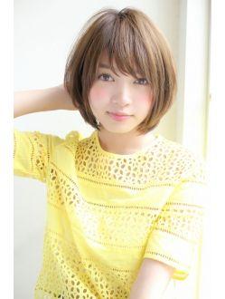 【GARDEN】宮崎えりな メルトカラーな小顔ひし形ショートボブ