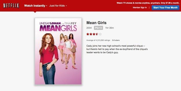 """This is not a drill. Mean Girls is now available to stream on Netflix. 