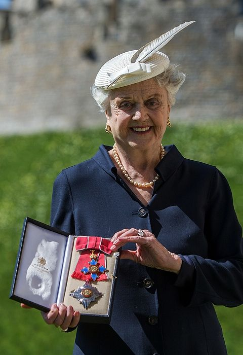 AND THAT'S WHY THE LADY IS A DAME! ANGELA LANSBURY HONORED by Queen Elizabeth at Windsor Castle
