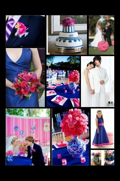 Possible Wedding Color Scheme Royal Blue And Bright Pink