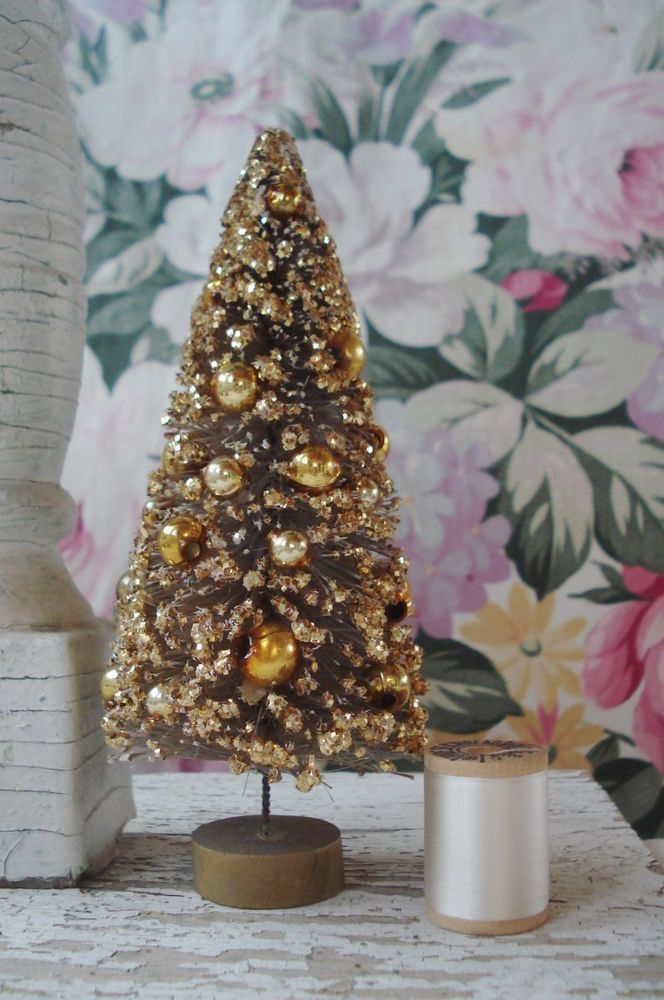 Best images about vintage christmas bottle brush trees
