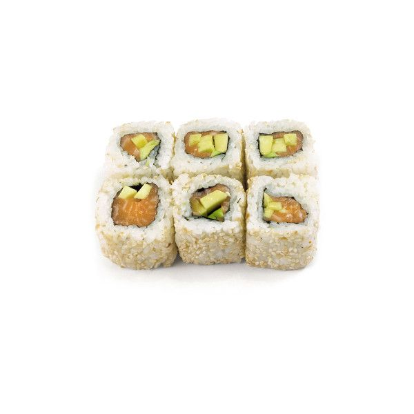 Доставка суши и блюд японской кухни. - Ролл с лососем, авокадо и белым... ❤ liked on Polyvore featuring food, fillers, food and drink, sushi and food & drinks