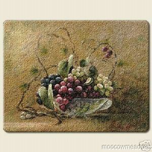 new large grape cutting board kitchen decor fruit glass grapevine tuscan accent