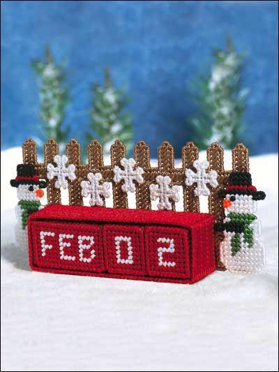Plastic Canvas - Special Occasions - Winter - Winter Block Calendar - #FP00407