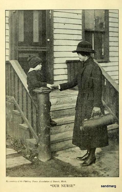 Public Health Nurse 1922 Detroit