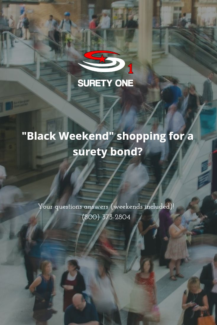 Visit us at http://www.SuretyOne.org or call anytime!  #suretybond #suretybonds #SuretyOne