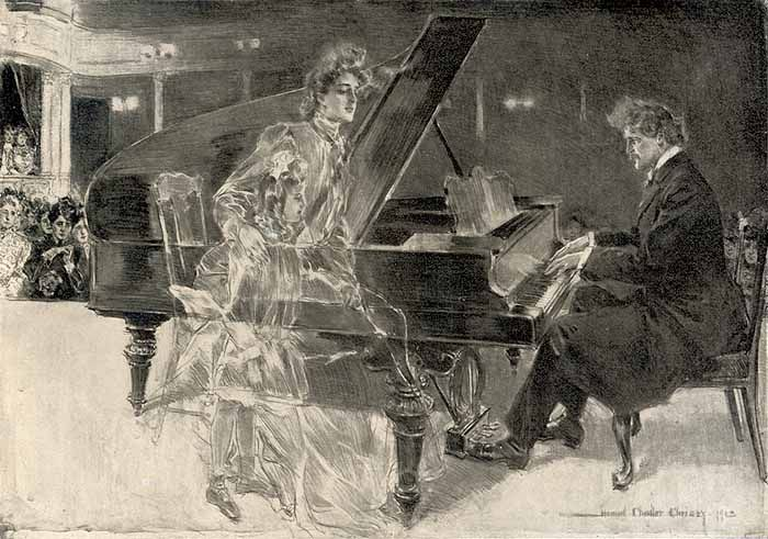 Howard Chandler Christy, Music and Life 1904