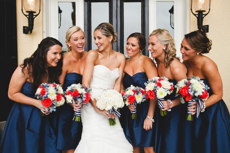 ~~12 Festive Red, White and Blue Wedding Ideas   TheKnot.com~~