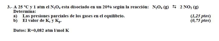 Ejercicio 3,P2, SETIEMBRE 2010-2011. Examen PAU de Química de Canarias. Tema: equilibrio.