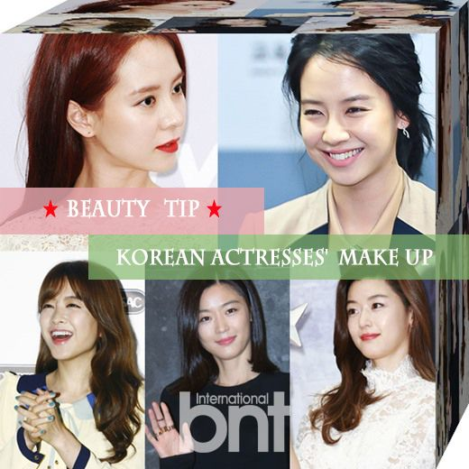 Natural-Looking Nude Make-up of Actresses