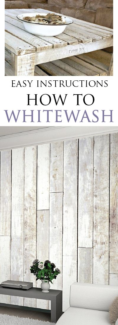 How to Whitewash Furniture & Other Wood - Painted Furniture Ideas
