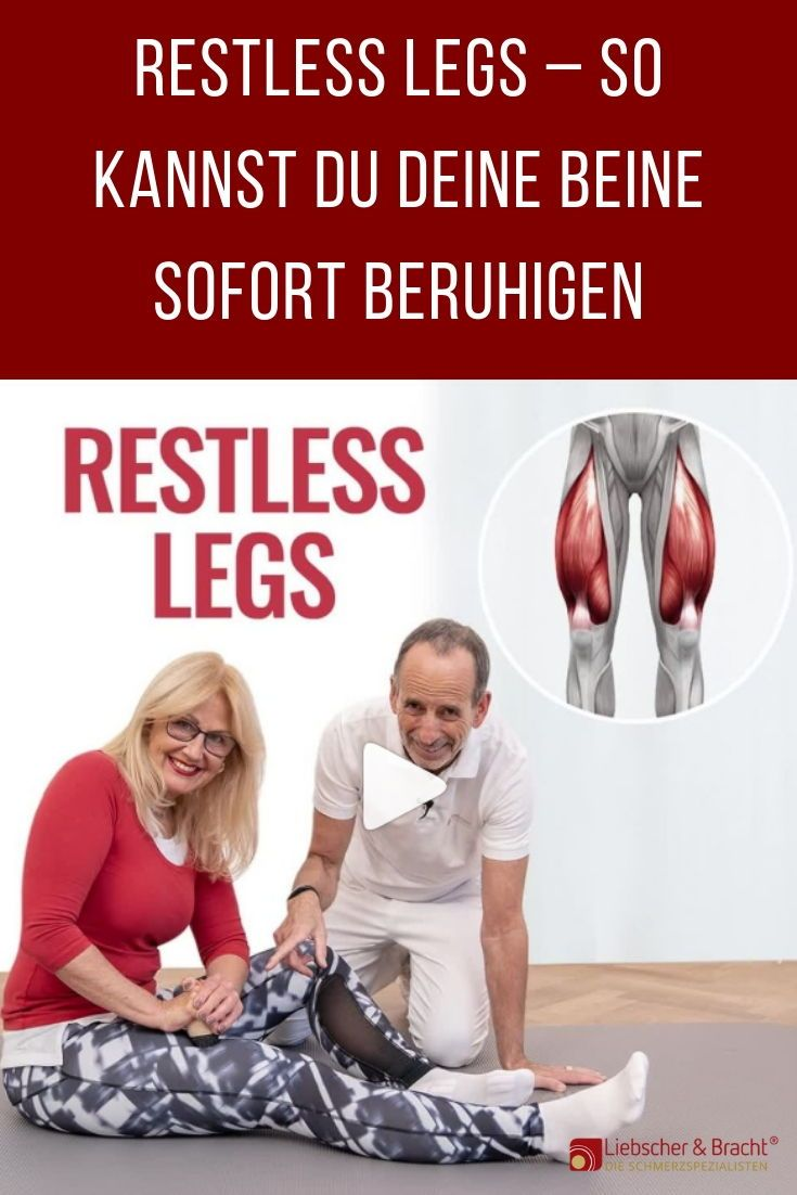 Restless Legs beruhigen: Mit diesen Übungen gelingt's