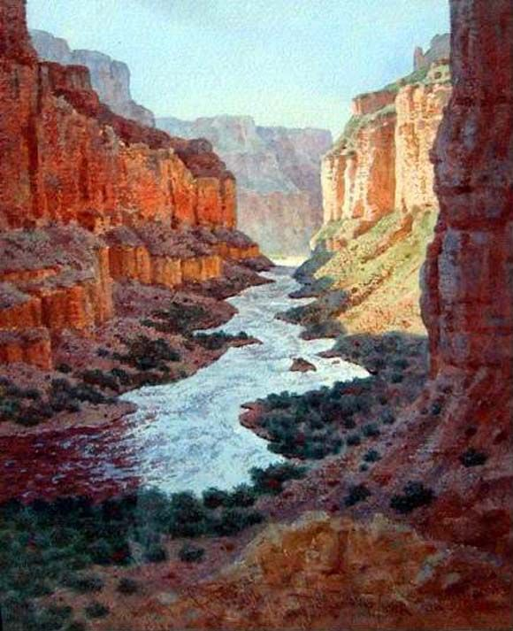 Journey of the Colorado:: Landscape art of the Colorado River in the Grand Canyon by Prix de West artist Joseph Bohler