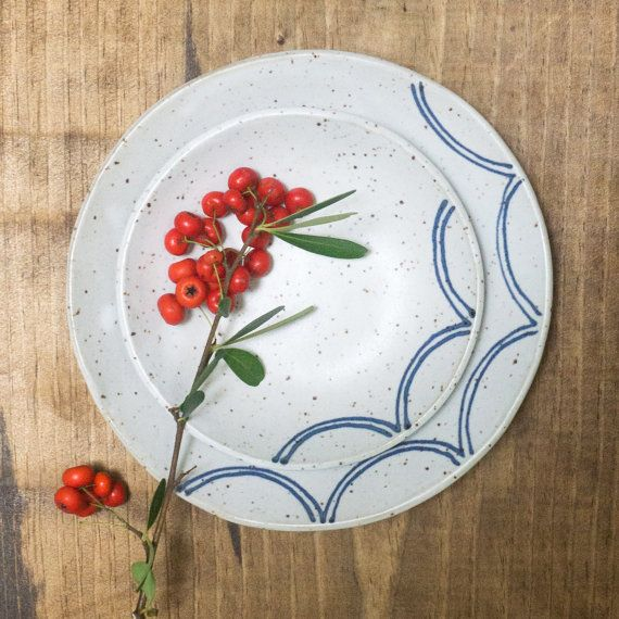 Piastre in ceramica e nidificazione di SarahStearnsCeramics