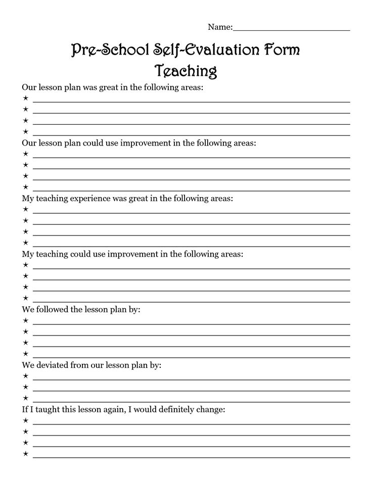 The 25+ best Preschool evaluation forms ideas on Pinterest - teaching evaluation form