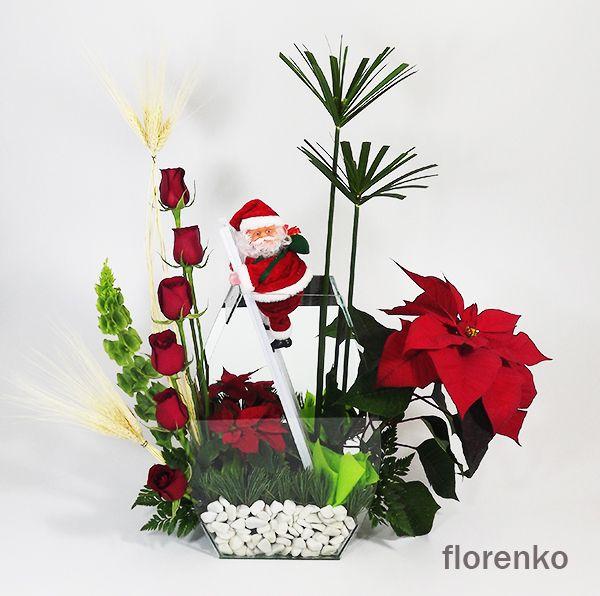 Mejores 119 im genes de arreglos de flores en pinterest for Arreglos navidenos para mesa