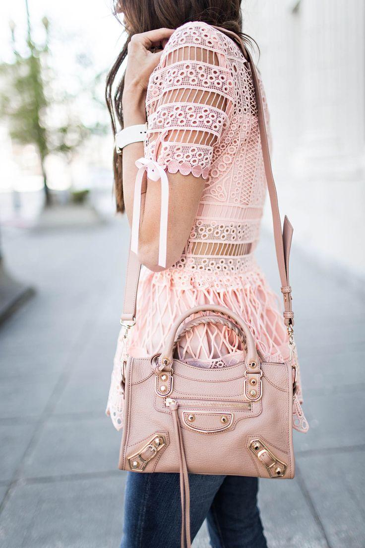 Pretty pink lace + Balenciaga #Fashion #OOTD #FashioBlogger