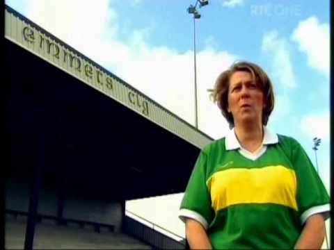 The Kingdom's Green and Gold Recorded: 2009 Length: 3mins  Garry McMahon's wonderful poem about Kerry football, sung and recited by Karen Trench and Kerry seanchai's like Frances Kennedy, Sonny Egan and Brian Murphy. Wonderful scenery from around Kerry is included in the video.