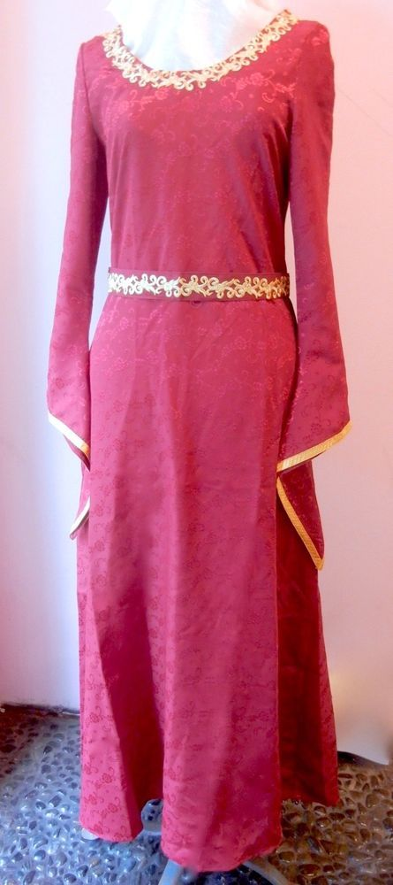 Ruby Red Brocade &Gold Renaissance Ladies Sz Small Dress Museum Replicas Limited  | eBay