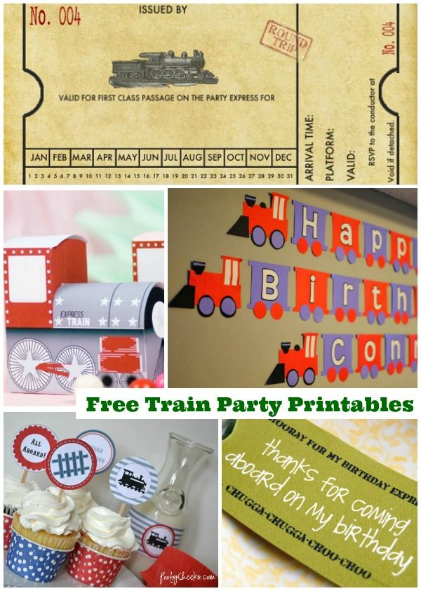 Train Party Printables (Free) - Moms & Munchkins