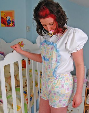 Printed Romper With Bunnies And Teddy Prints Abdl