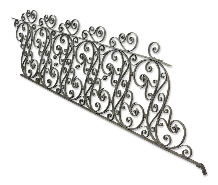 Large Lot of Rare Highly Ornate Wrought Iron Stair Railing #ornate