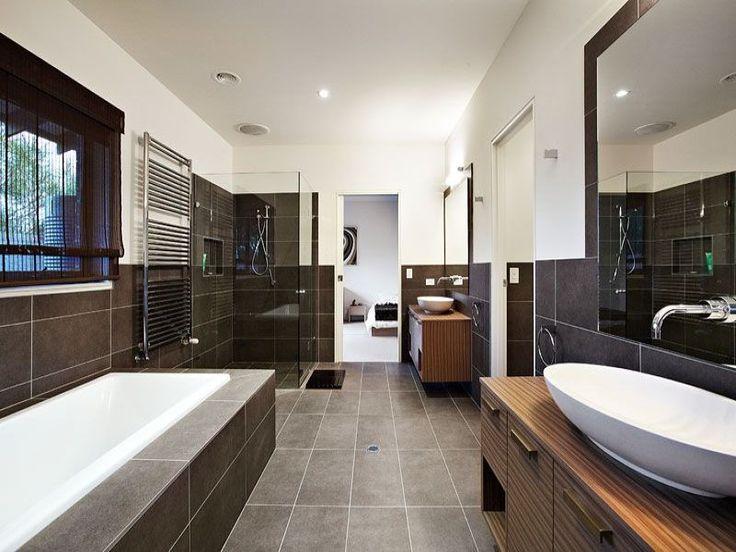 Modern bathroom design with recessed bath using tiles - Bathroom Photo 352742