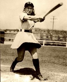 Women Baseball, Woman Plays Basebal, Vintage Women, Sports Encyclopedia, Vintage Basebal Uniforms, Vintage Sports, Gertrude Tibi, Sports Fans, Women Basebal ...