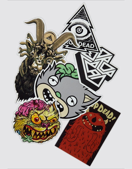 Drop dead sticker pack
