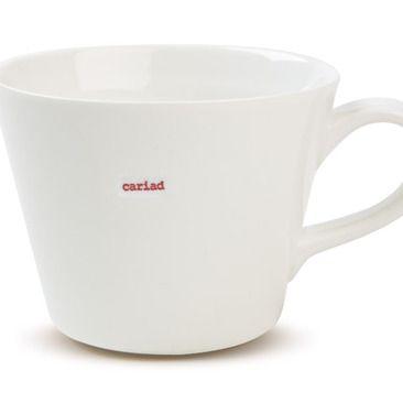 Love this Keith Brymer Jones Welsh crockery - I want it all! Bucket Mug - Cariad - Set of 2   Keith Brymer Jones