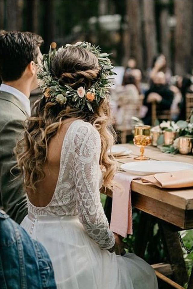 Fall boho wedding ideas, fall floral bohemian wedding with shabby chic and rusti