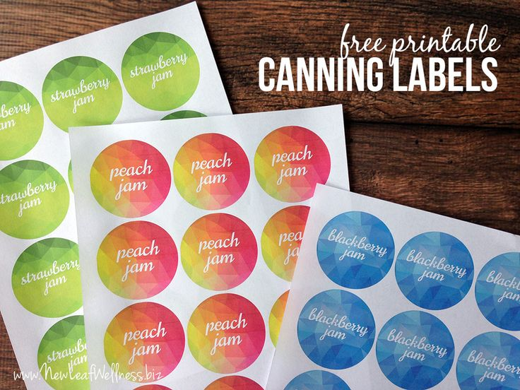 Free printable canning labels for jam. So cute!