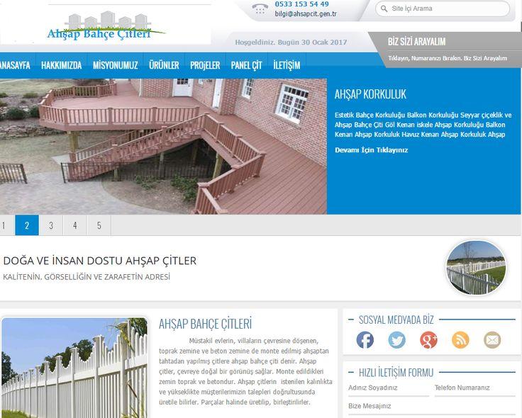 www.ahsapcit.gen.tr Ahşap, ahşap çit, panel çit