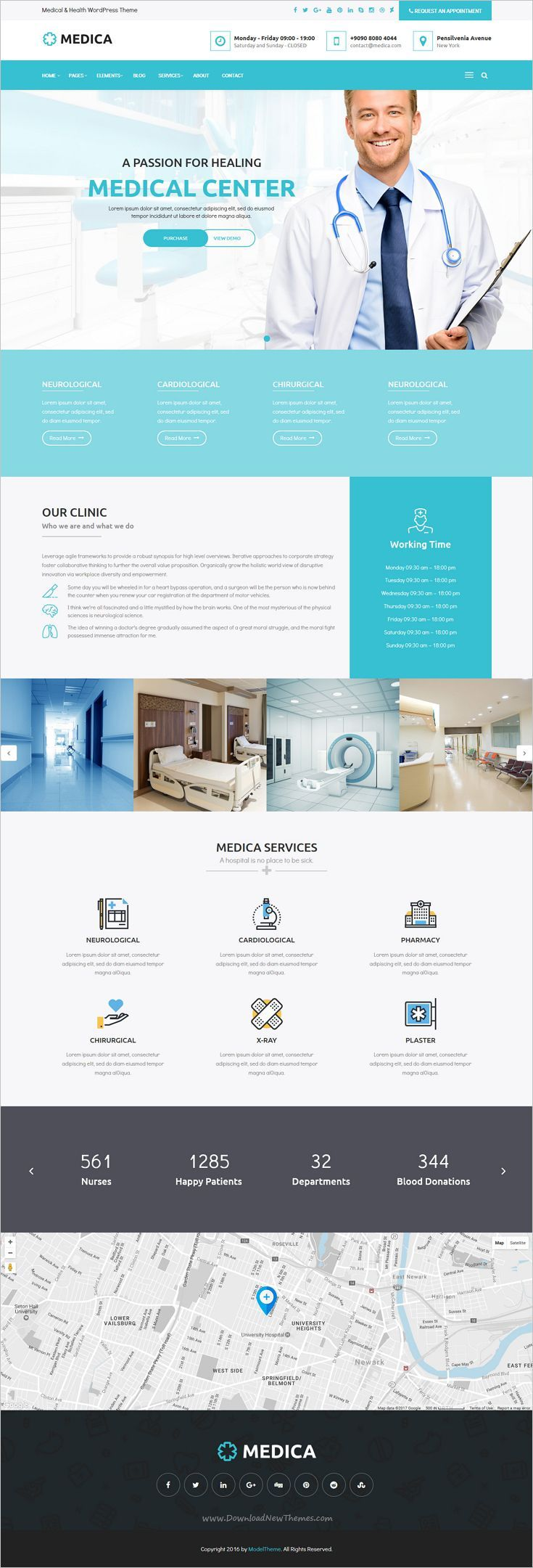MedicaWP is a stilish and modern design responsive #WordPress theme for medical, #hospital and healthcare #websites with 11+ unique homepage layouts download now➩ https://themeforest.net/item/medicawp-a-stilish-medical-hospital-health-wordpress-theme/18977250?ref=Datasata