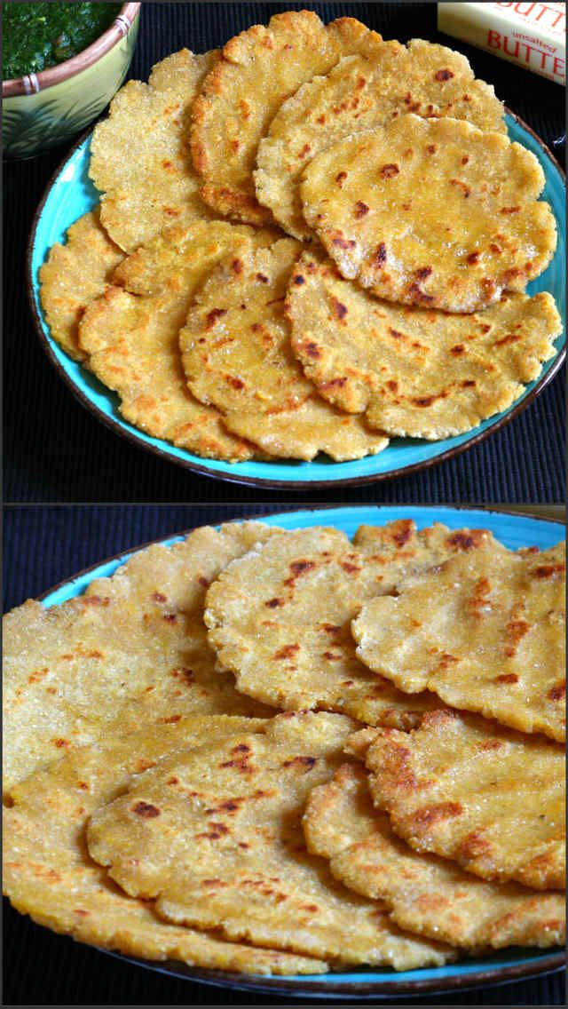 Corn Flour Bread also known as makki ki roti is healthy unleavened flat bread that is prepared using maize flour / corn flour.
