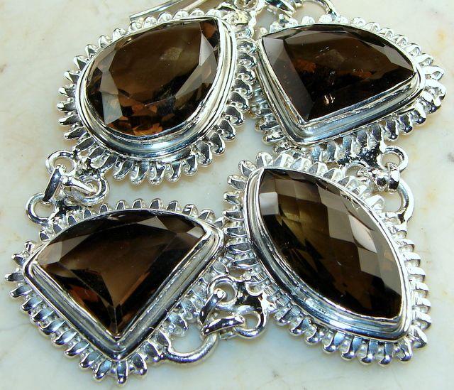 Online Buy Smoky Quartz Silver Bracelet - Best Price Jewels Jaipur