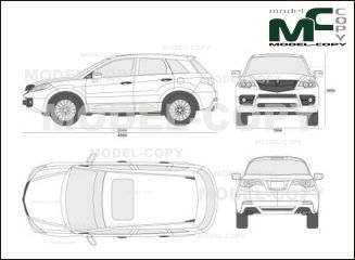Acura RDX (2007) - drawing