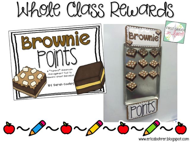 Brownie Points by Sarah Cooley for Whole Class Good Behavior Rewards