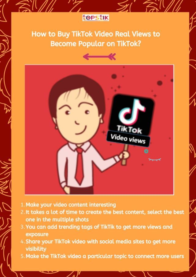 Buy Tiktok Video Views To Boost Your Tiktok Video Fast Here S How Video Cool Things To Make Stuff To Buy